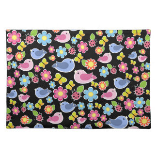 Cute spring pattern placemat