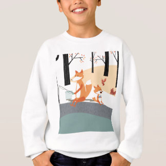 Cute spring summer baby fox and papa fishing sweatshirt