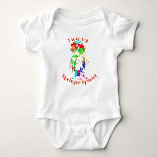 Cute Springer Spaniel Baby-Grow / Vest! Baby Bodysuit