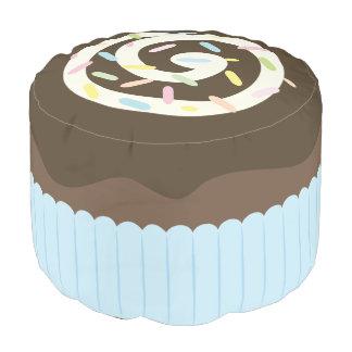Cute Sprinkled Chocolate Cupcake Pouf