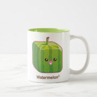 Cute Square Watermelon Two-Tone Coffee Mug