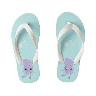 Cute Squid Flip Flops, Kids Kid's Thongs