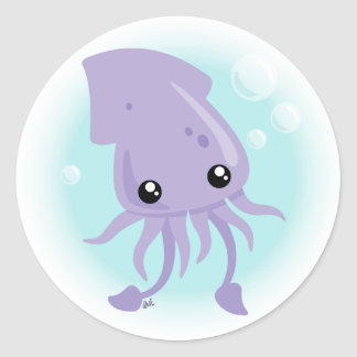 Cute Squid Sticker