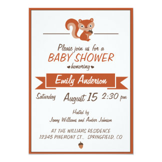 Cute Squirrel - Baby Shower Invitation