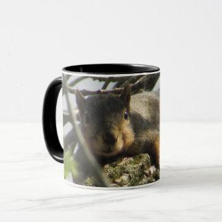 Cute Squirrel Coffee Mug with Black Handle