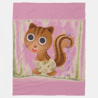 Cute squirrel girl Fleece Blanket