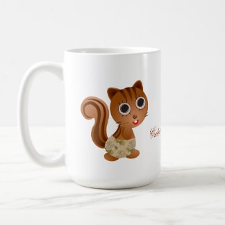 Cute Squirrel Girls Coffee Mug
