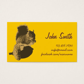 Cute Squirrel & Oak Nut Creative Profile Card