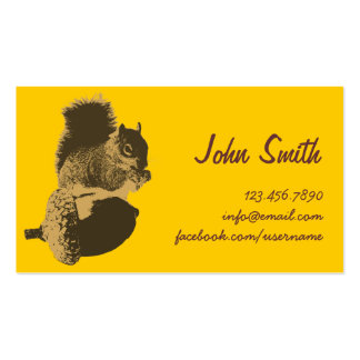 Cute Squirrel & Oak Nut Creative Profile Card Double-Sided Standard Business Cards (Pack Of 100)