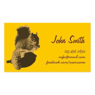 Cute Squirrel & Oak Nut Creative Profile Card Pack Of Standard Business Cards