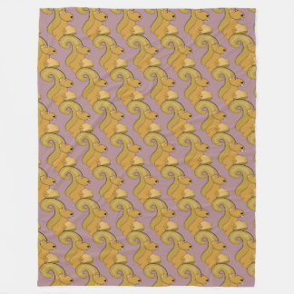 Cute Squirrel Pattern Fleece Blanket