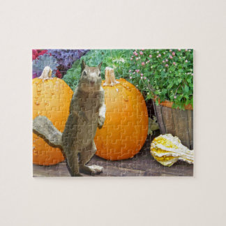 Cute Squirrel Thanksgiving Jigsaw Puzzle