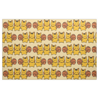 Cute Squirrels Pattern Graphic Fabric