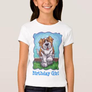 Cute St. Bernard Birthday Girl Tees