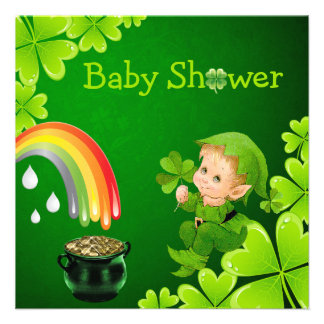 Cute St. Patrick's Day Baby Shower Invitations