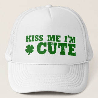 Cute St Patricks Day Irish Trucker Hat