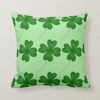 Cute St. Patrick's Day lucky shamrocks Cushion
