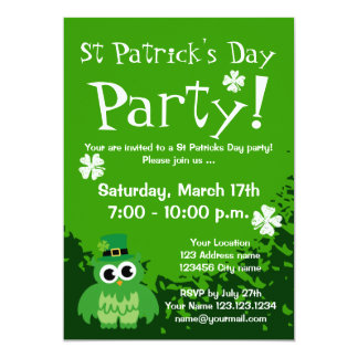 Cute St Patricks Day party invitations | Customize