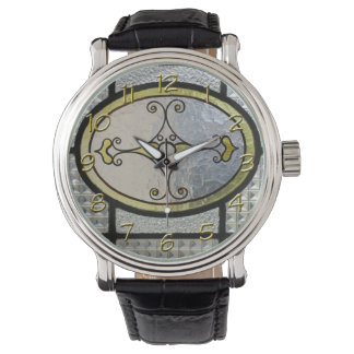 Cute Stained Glass & Golden Clock numbers Watches