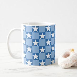 Cute star checkerboard pattern coffee mug