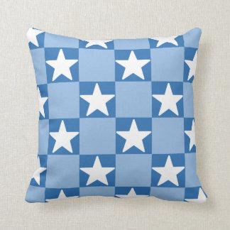 Cute star checkerboard pattern cushion