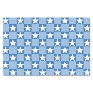 Cute star checkerboard pattern tissue paper