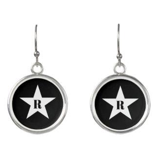 Cute star monogram earrings