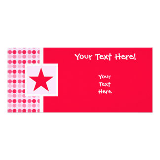 Cute Star Personalized Rack Card
