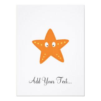 Cute starfish 17 cm x 22 cm invitation card