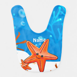 Cute Starfish Ocean Aquatic Baby Bib