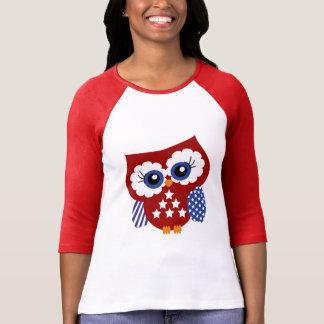 Cute Stars and Stripes Patriotic Owl T-Shirt
