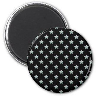 Cute Stars on Black Background Pattern Magnet