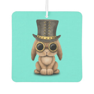 Cute Steampunk Baby Bunny Rabbit Car Air Freshener