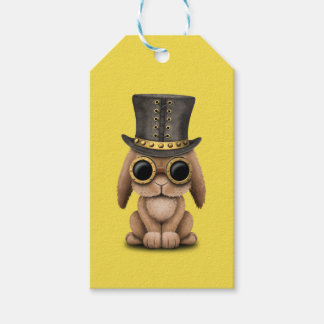 Cute Steampunk Baby Bunny Rabbit Gift Tags