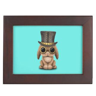 Cute Steampunk Baby Bunny Rabbit Keepsake Box