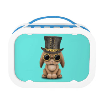 Cute Steampunk Baby Bunny Rabbit Lunch Boxes