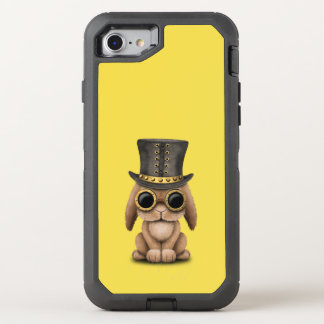 Cute Steampunk Baby Bunny Rabbit OtterBox Defender iPhone 8/7 Case