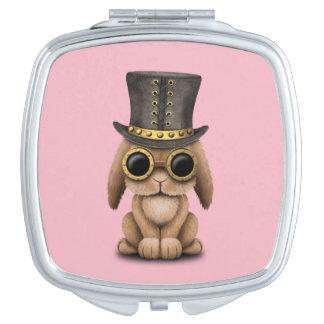 Cute Steampunk Baby Bunny Rabbit Travel Mirror