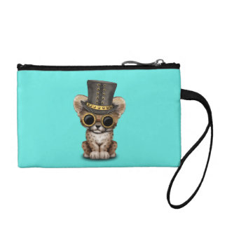 Cute Steampunk Baby Cheetah Cub Coin Purse