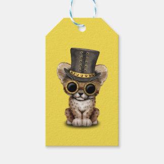 Cute Steampunk Baby Cheetah Cub Gift Tags