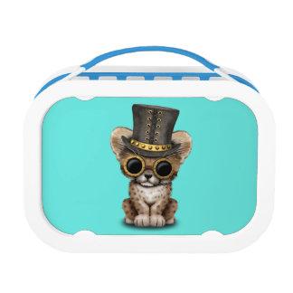 Cute Steampunk Baby Cheetah Cub Lunch Box