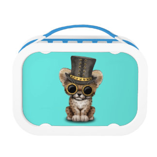 Cute Steampunk Baby Cheetah Cub Lunchboxes
