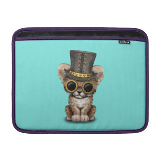 Cute Steampunk Baby Cheetah Cub MacBook Sleeve
