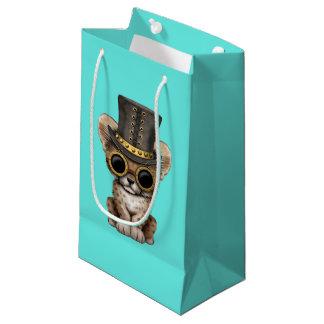 Cute Steampunk Baby Cheetah Cub Small Gift Bag