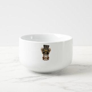 Cute Steampunk Baby Cheetah Cub Soup Mug