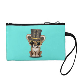 Cute Steampunk Baby Cougar Cub Coin Purse
