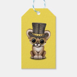 Cute Steampunk Baby Cougar Cub Gift Tags
