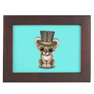 Cute Steampunk Baby Cougar Cub Keepsake Box