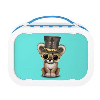 Cute Steampunk Baby Cougar Cub Lunch Boxes