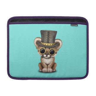 Cute Steampunk Baby Cougar Cub MacBook Sleeve